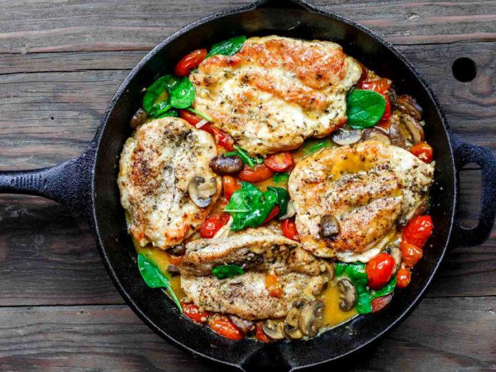 Курица по-итальянски с оливковым маслом