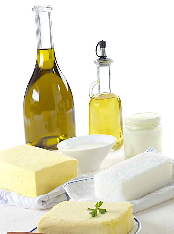 оливковое масло и сливочное