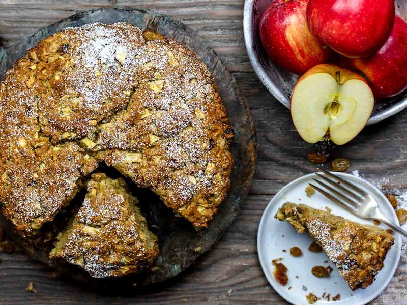 яблочный торт с оливковым маслом