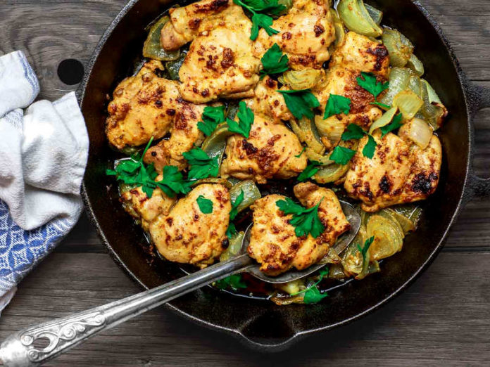Курица с оливковым маслом