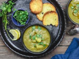 Картофельный суп с оливковым маслом