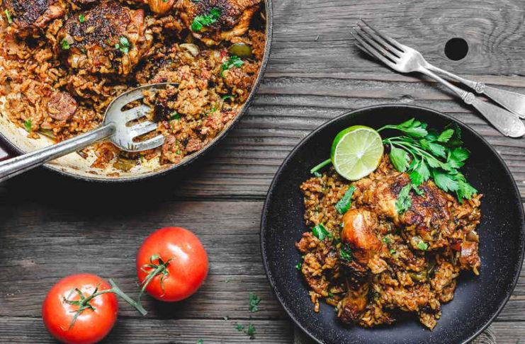 Рис с курицей и оливковым маслом