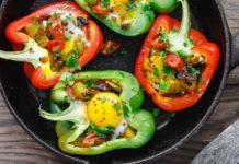 Фаршированные перцы с оливковым маслом