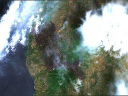 пожары на Сардинии